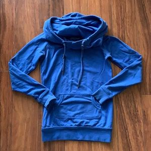 Garage // Blue Funnel Neck Hoodie
